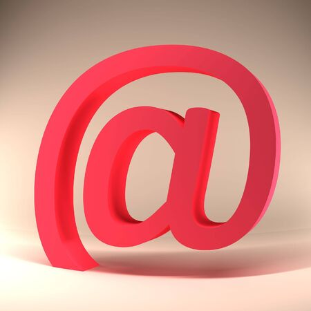 http: 3d Red e mail Sign on light background