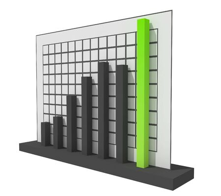 3d Success Chart Stock Photo - 4313055