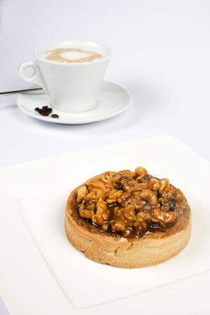 nutty: coffee with nutty cake