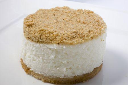 spongy: spongy cake on isolated background