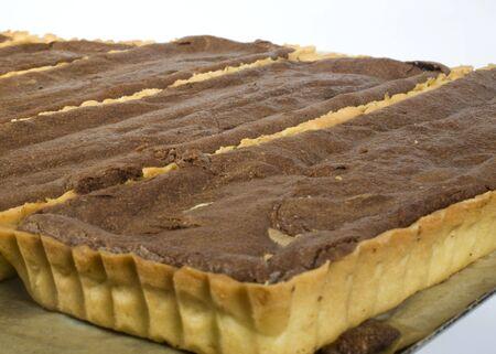chocolaty: chocolaty tart in rows   Stock Photo