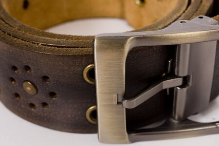 designer belt with holes   Stock Photo