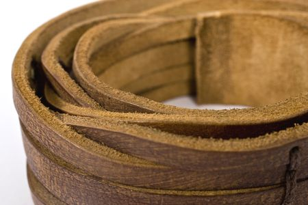 coiled belt on isolated background