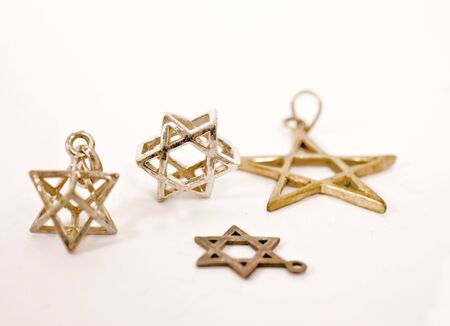 stars of david accessories on isolated background Stock Photo - 3326192