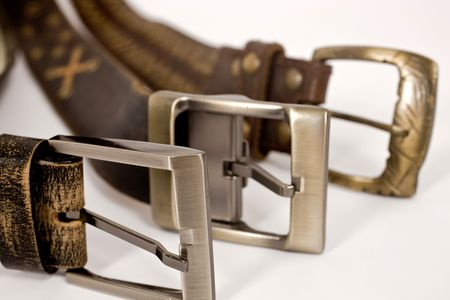 different types of buckles on abstract background   Stock Photo