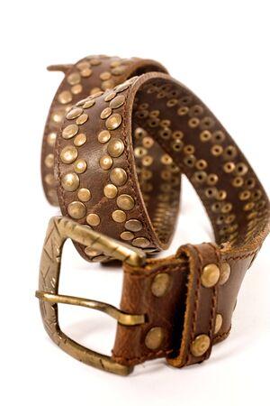 trendy belt on isolated background   Stock Photo