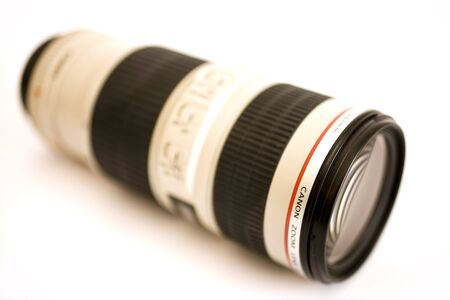 zoom lens on isolated background