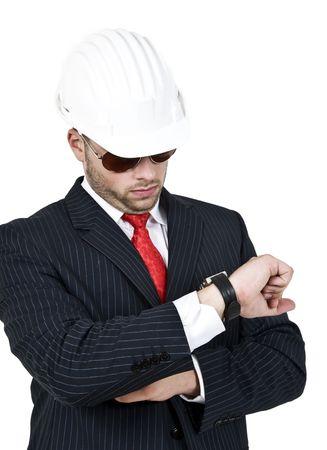 stipt: stipte ingenieur met een harde hoed
