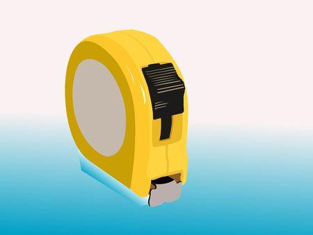 measurement tape: measurement tape on gradient background