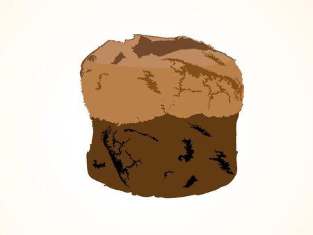 tasty cake on isolated background   photo