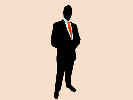 businessman on plain background
