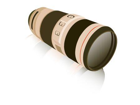 camera lens on isolated background   Stock Photo - 3503138
