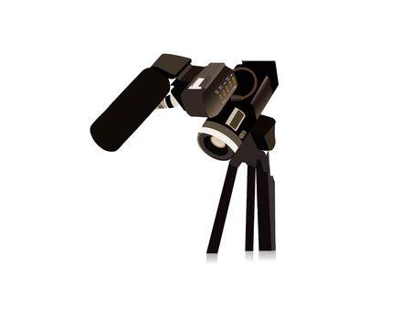 movie camera on isolated background Stock Photo - 3503097