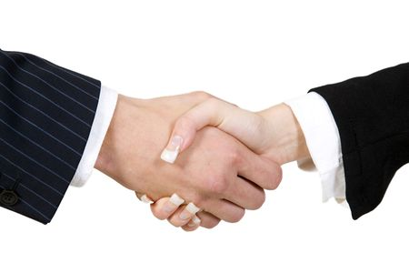 agreement on isolated background Stock Photo