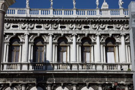 dodge: view of windows in dodge palace in venice