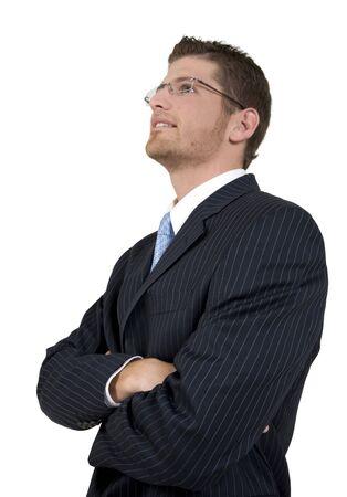 stylish pose of man on isolated background Stock Photo - 3567227