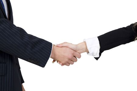 shaking hands on isolated background Stock Photo