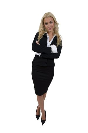 standing businesswoman on isolated background Stock Photo