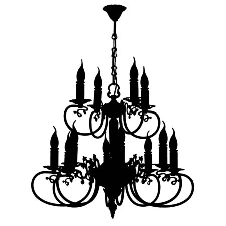 chandelier silhouette photo