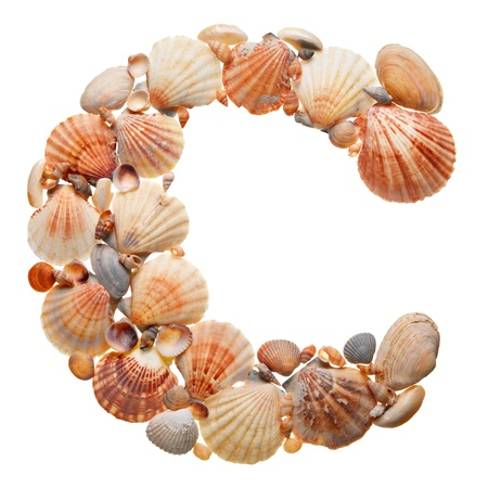 summer alphabet made of seashells during travel  Stock Photo - 9822702