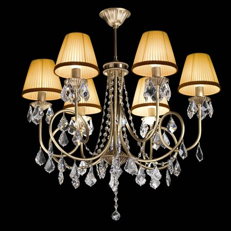 chandelier isolated on black photo