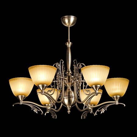 chandelier isolated: chandelier isolated on black