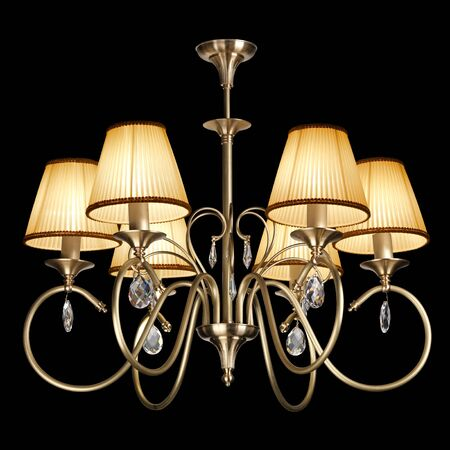 chandelier isolated on black Stock Photo - 9822342