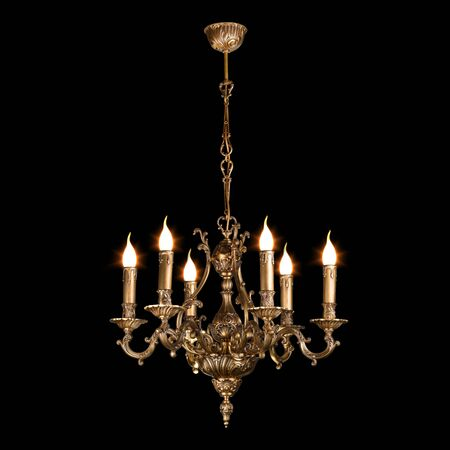 chandelier isolated on black Stock Photo - 9822340