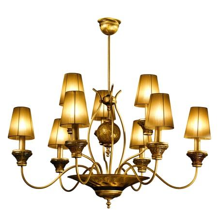 electric fixture: lampadario in stile vintage isolato su bianco Archivio Fotografico