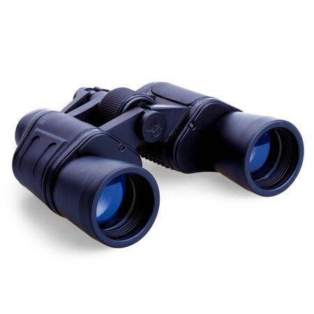 eyepiece: Binocular isolated on white background Stock Photo