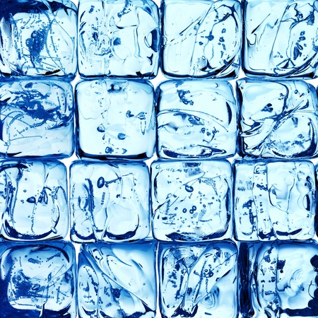 ice cubes: ice background from cubes