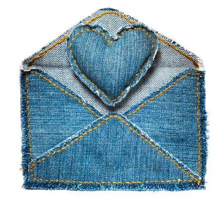 Handmade jeans envelope Stock Photo - 9822539