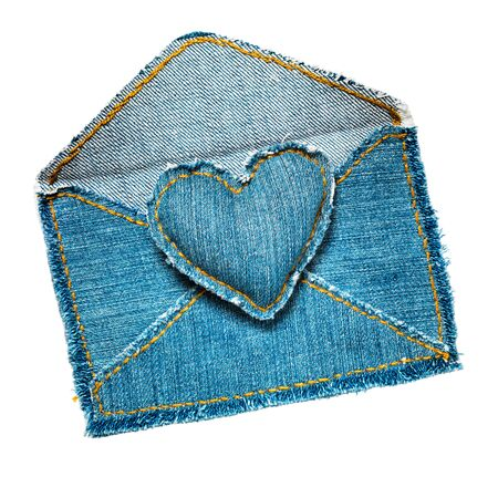 Handmade jeans envelope photo