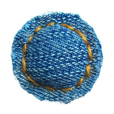 fibres: Handmade sign of jeans alphabet