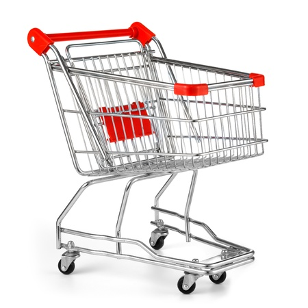e cart: shopping cart isolated on white
