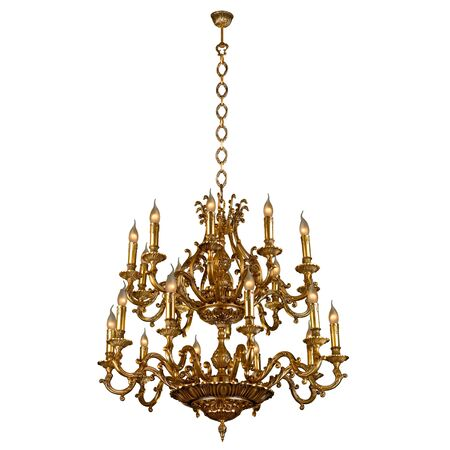 Vintage chandelier isolated on white
