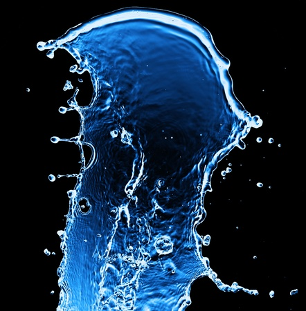water splash isolated on black Stock Photo - 11249194
