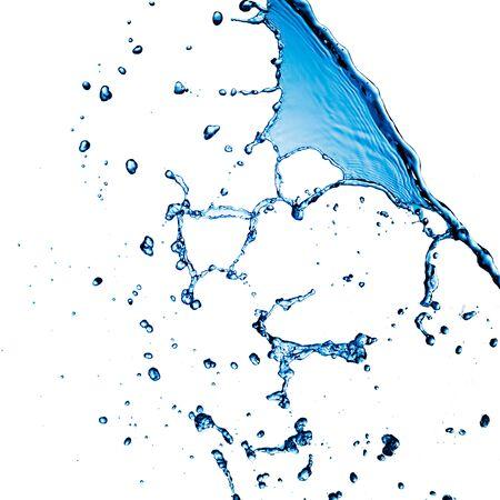 물결: 물 얼룩에 격리 된 화이트 스톡 사진