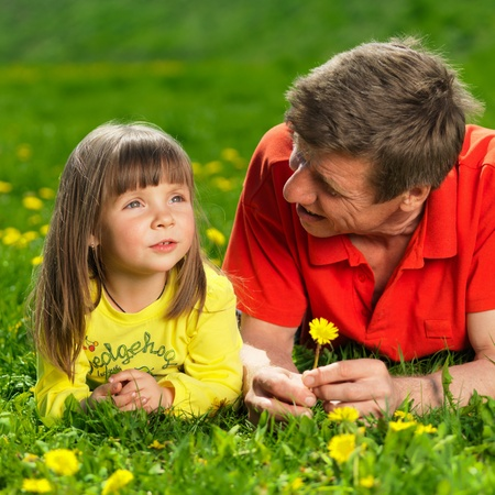 happy young family enjoy outdoors Stock Photo - 12050117