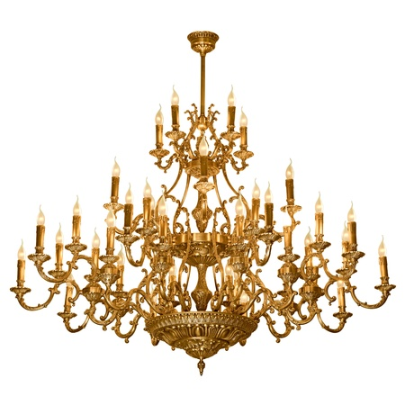 chandelier isolated: Vintage chandelier isolated on white background with clipping path