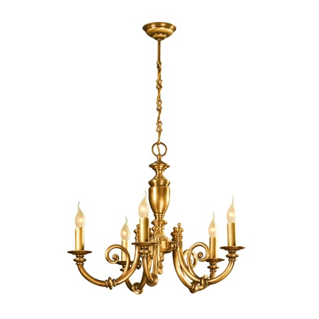 chandeliers: Vintage chandelier isolated on white background with clipping path