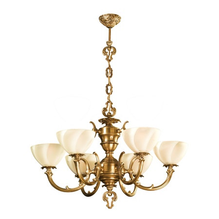 Vintage chandelier isolated on white background with clipping path Stock Photo - 12248557
