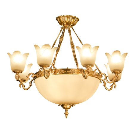 Vintage chandelier isolated on white background with clipping path Stock Photo - 12248510