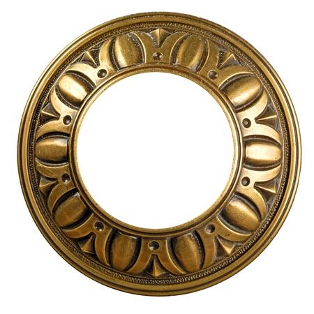 Vintage gold ornate frame photo