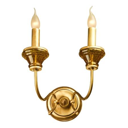 classic light bulb: vintage wall lamp