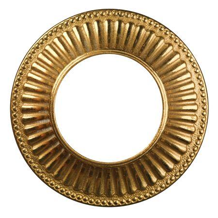 gold frame on white photo