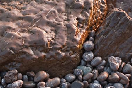 Shining smooth beach stones Stock Photo - 13902365