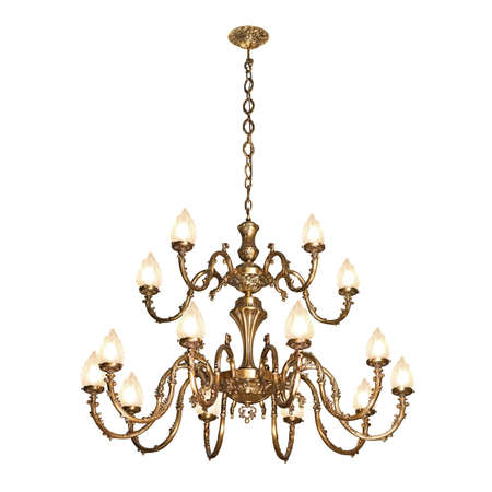 Vintage chandelier isolated on white background  photo