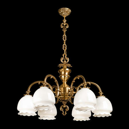 Vintage chandelier isolated on black background Stock Photo - 14036121