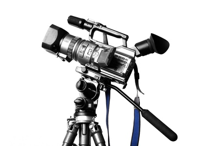 film director: Camcorder on a professional tripod